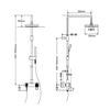 Elevating Wall Mount Brass Fixture Chrome Shower Faucet