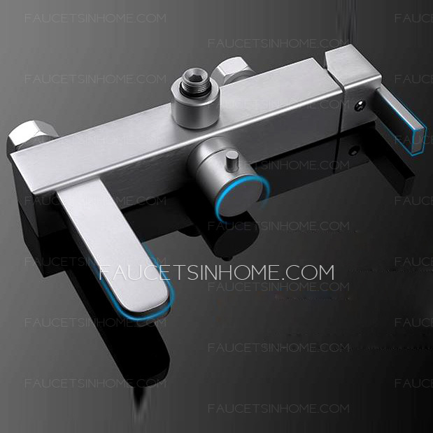 Designer Wall Mount Aluminum Fixture Shower Faucet For Bathroom
