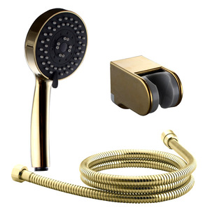 Simple Polished Brass Wall Mount Shower Fixture For Bathroom