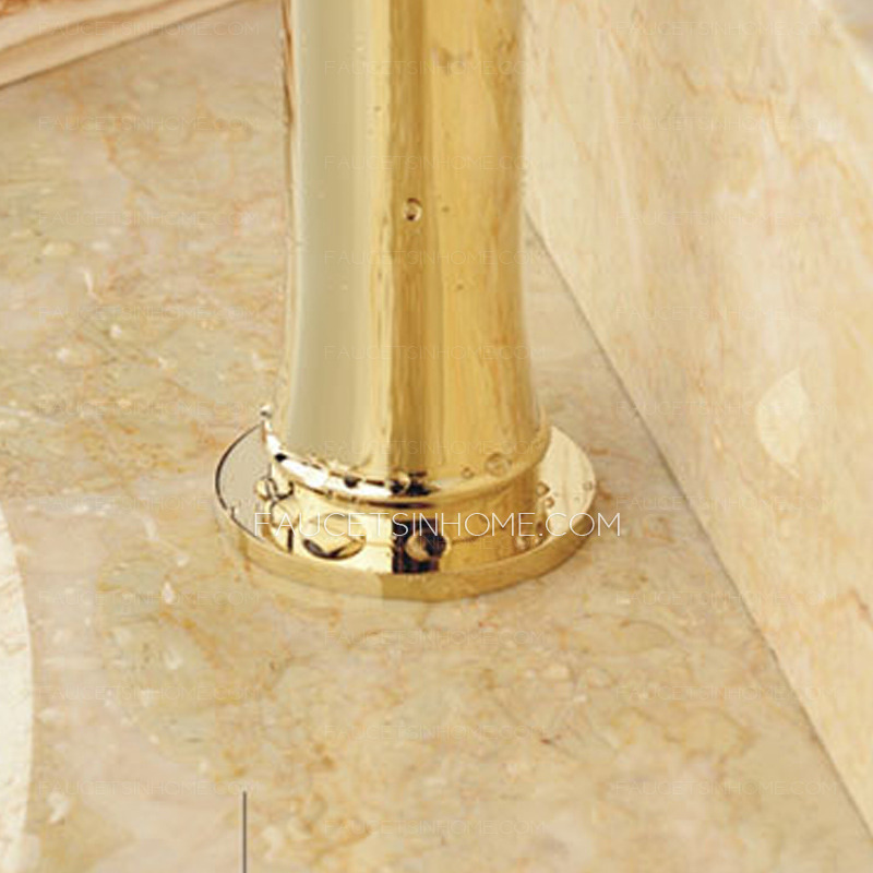Luxury Polished Brass Single Hole Bathroom Sink Faucets