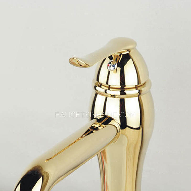 Luxury Polished Brass Modern Bathroom Sink Faucet