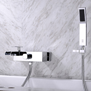 Designer Chrome Wall Mount Bathtub Faucet Waterfall