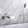 Designer Chrome Wall Mount Bathtub Faucet Waterfall