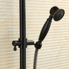 Antique Oil Bronze Shower Faucet System With Two Switches