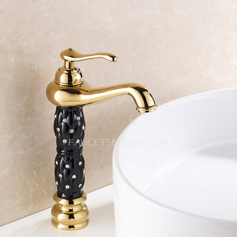 antique diamond studded painting high end bathroom faucet