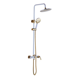 Modern Multi-Functional White Rain Forest Outdoor Shower Sytem