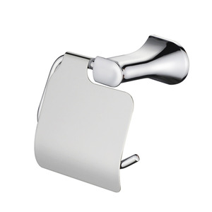 High End Contemporary Brass Chrome Toilet Roll Holder