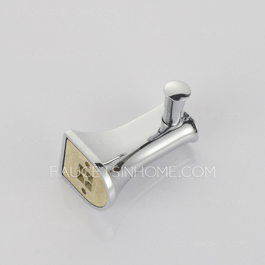 Modern Styled Chrom Finish Sliver Brass Robe Hook
