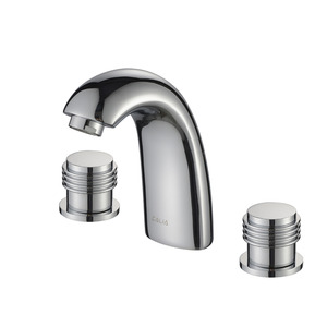 European Style Separated Three-Hole Brass Bathroom Sink Faucet