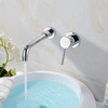 Wallmount Separated Style Brass Faucet For Bathroom Sink