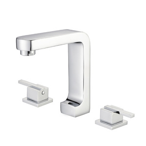 Modern European Style Brass Three-Hole Faucet For Bathroom