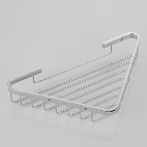 High End Brass Chrome Finish Silver Bathroom Corner Rack
