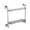 Contemporary Practicle Double-Layer Glass Bathroom Storage Shelf