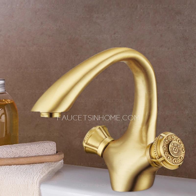Vintage Gold Polished Brass Utility Sink Faucet Bathroom