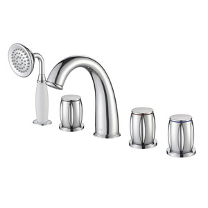 Modern Silver Electroplate Finish Brass Bathroom Faucet Set