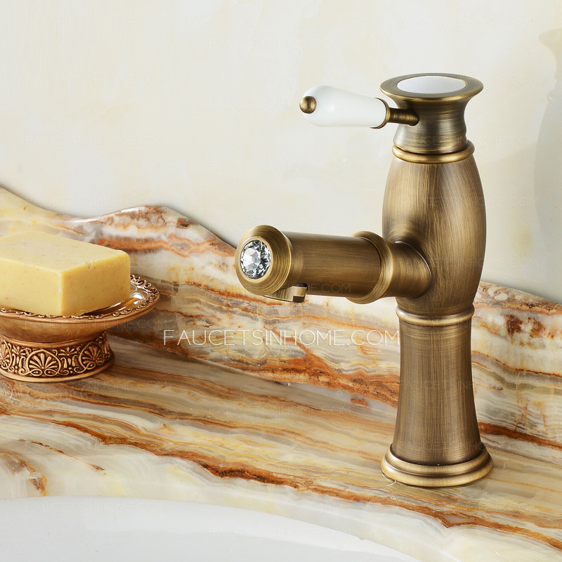 Antique Brass Unique Pull out Vintage Bathroom Sink