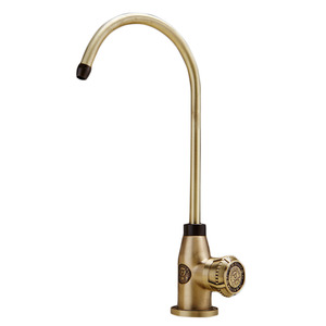 High End Antique Chrome Finish Bathroom Long Neck Faucet