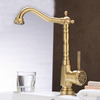 Single Handle Hot And Cold Water Switch Retro Bathroom Faucet