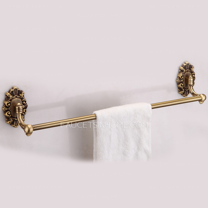 High End Brass Vintage Single Pole Towel Bar Bathroom