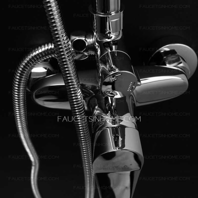 Contemporary Chrome Stainless Steel Energy-efficient Shower Faucet