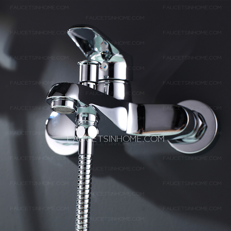 Fashion Chrome Brass Wall Mounted Hand Hold Bidet Faucets