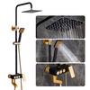 Vintage Black Positive Electrode Oxidization Aluminum Shower Faucet