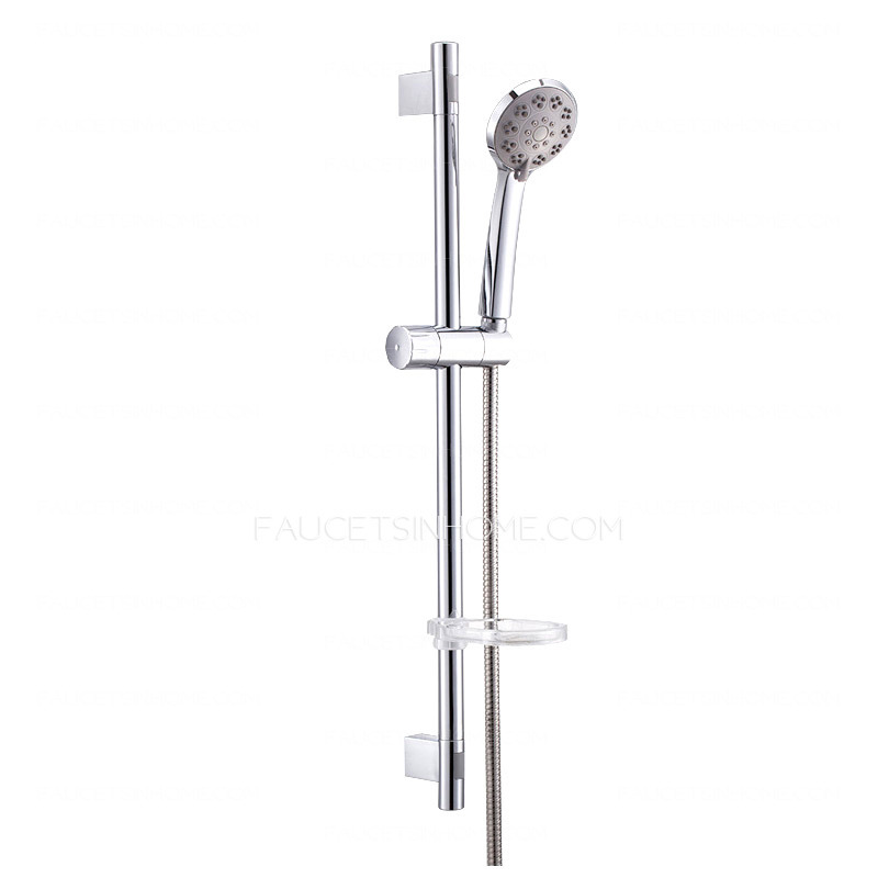 Simple wall mounted single handle stainless steel shower faucet for Wall mount bathroom faucet single handle