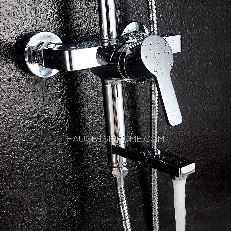Modern Brass Lifting Electroplated Single Handle Shower Faucet