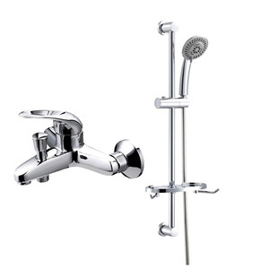 Contemporary Simple Stainless Steel Single Handle Shower Faucet