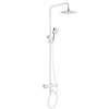 Modern White Brass Wall Mounted Bathroom Shower Faucets
