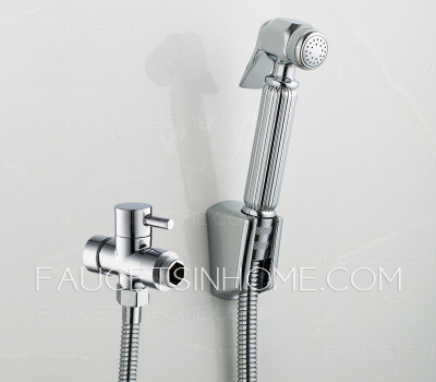 Bathroom Wall Mounted Electroplated Bidet Faucets