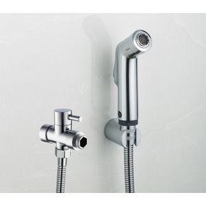 Silver Brass Electroplated Wall Mounted Bathroom Bidet Faucet