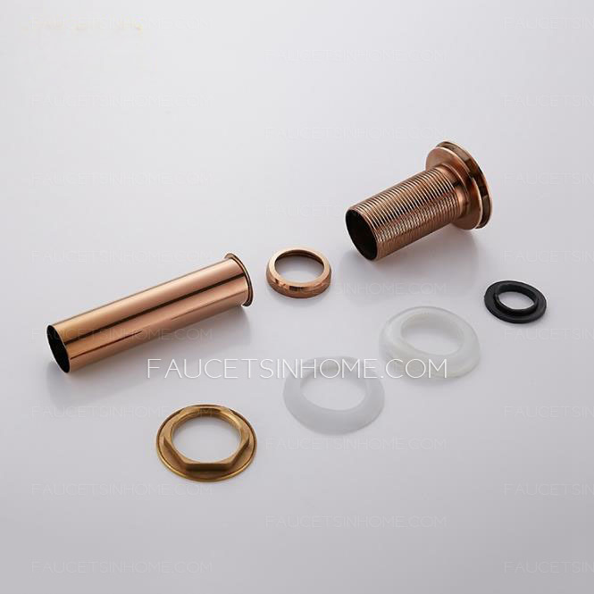 Rose Gold Brass Luxury Bouncing Type Drainer Without Spillway Hole
