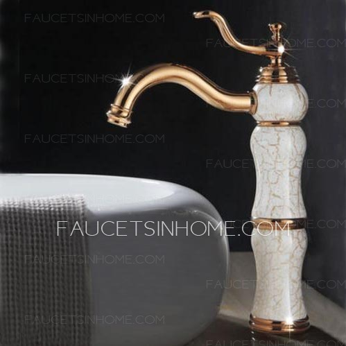Antique Rose Gold Single Hole Vessel Mount Faucet Bathroom