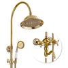 Vintage 2 Handle Ceramic Polished Brass Shower Faucets