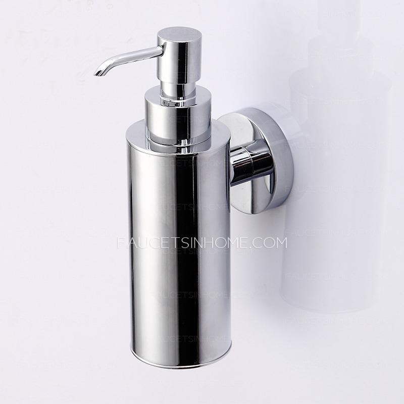Wholesale Silver Chrome Wall Mounted Bathroom Soap Dispenser