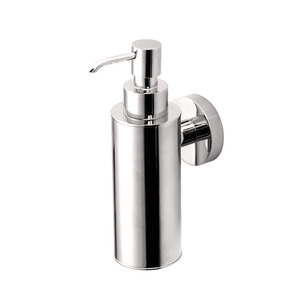 Wholesale Silver Chrome Wall Mounted Bathroom Soap Dispenser