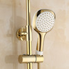 Modern Wall Mount Single Handle Gold Bathroom Shower System