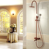 Antique Rose Gold Space Aluminum Stainless Steel Shower Fixture