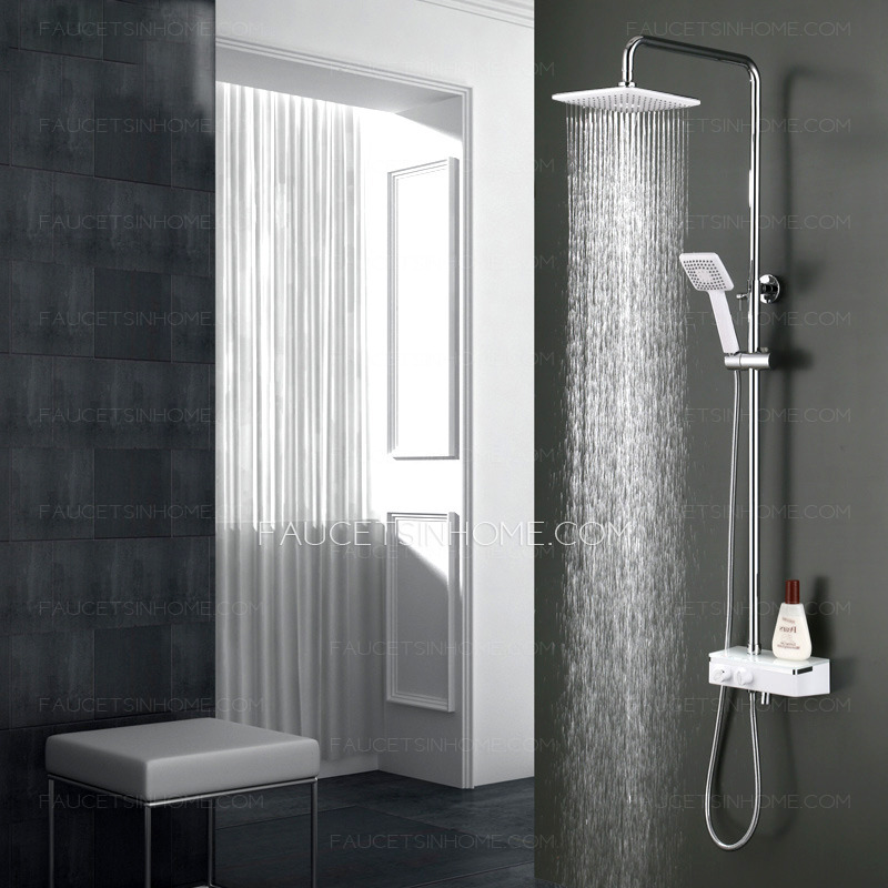 Modern Chrome Stainless Steel Rain Shower System With