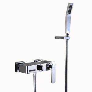 Modern Brass Chrome Bathtub Faucet With Handheld Shower