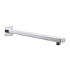 Chrome Silver Stainless Steel Wall Mount Shower Head Connected Pipe Wall Tube